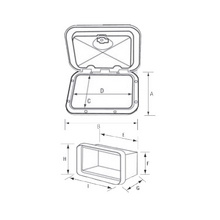Case for Electrical Control Panel, with Lid, White_3151_3937