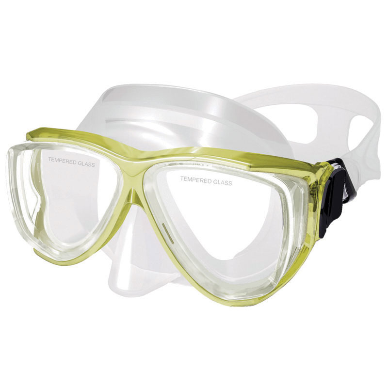 Silicone Mask , Dual Windows, w/ tempered glass,junior, yellow_4492_4492