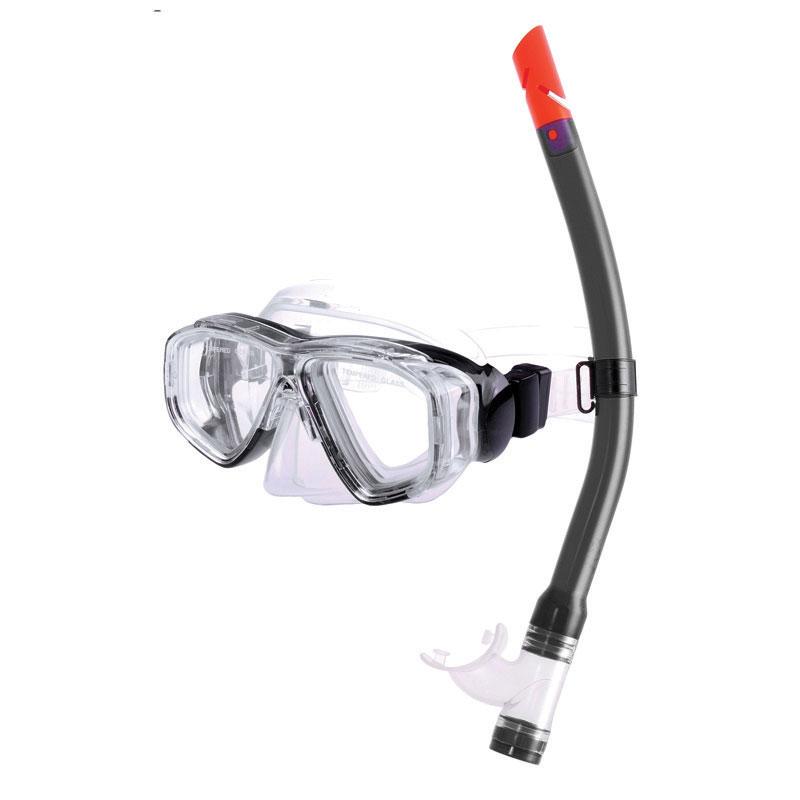 Junior Combo set w/ PVC mask & PVC snorkel, black_4494_4494