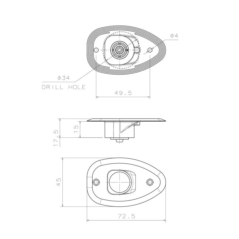 MICRO LED 12 Starboard & Port Lights 112,5°, Side & Flush mounted, Set_4814_4815