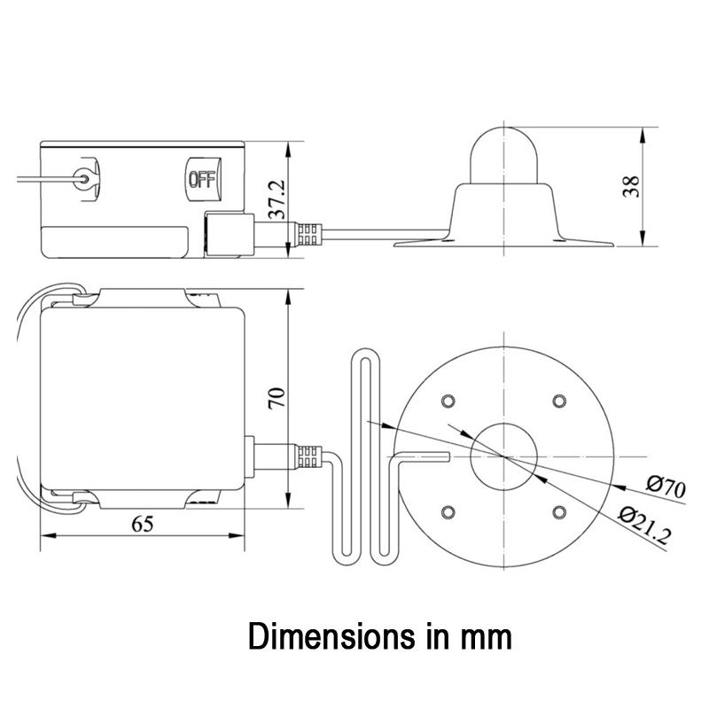 LALIZAS LRL External & Internal Liferaft Light, SOLAS/MED/USCG_4726_4851