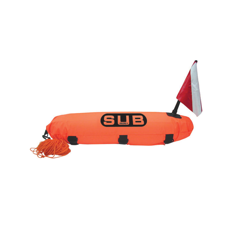 Torpedo Diving Marker Buoy, Reinfoced, ''Safe Dive'' with 20m rope_1214