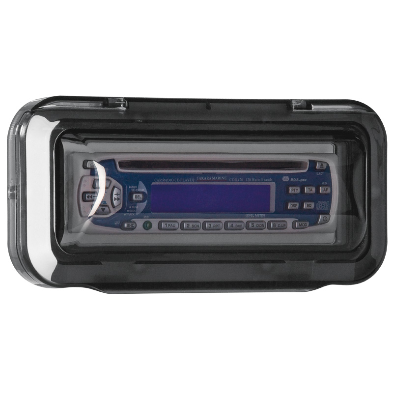 Universal Case Cover for Radio/CD , Curved, Smoked Transparent