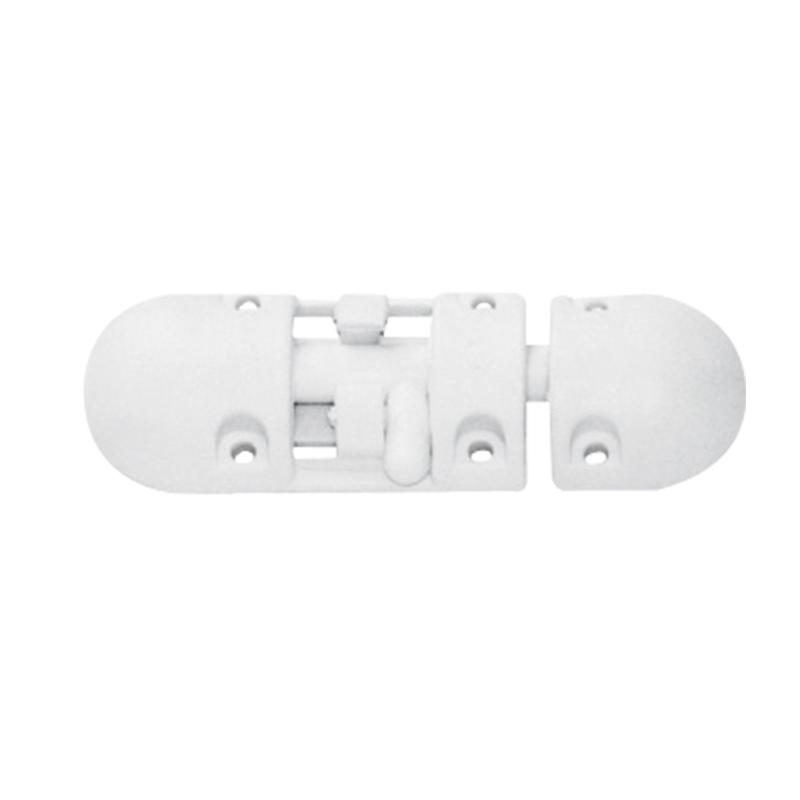 Anti-Rattle Barrel Bolt, Plastic, White_3625
