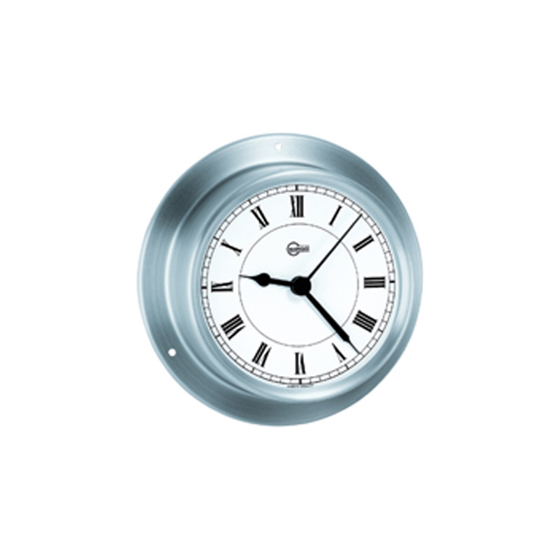 Clock Quartz ''Tempo'', Diam. 70mm, chrome
