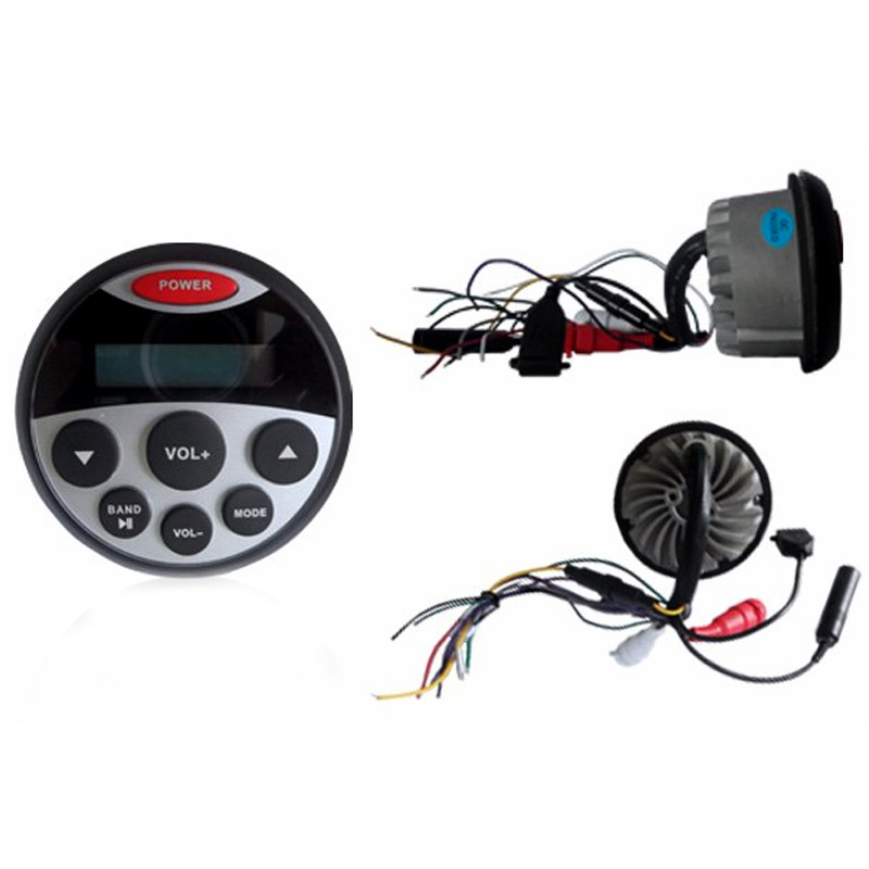 Waterproof Radio/MP3 Player 4x20Watt-LCD-Bluetooth-AUX
