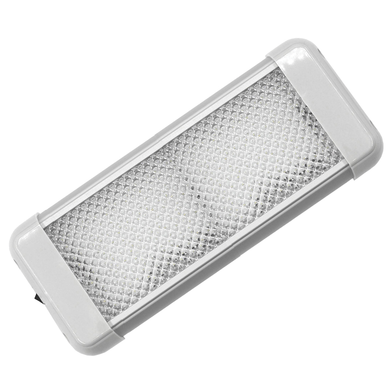 AquaLED  Dome Light rectangle with switch, 9.6W, 12/24V