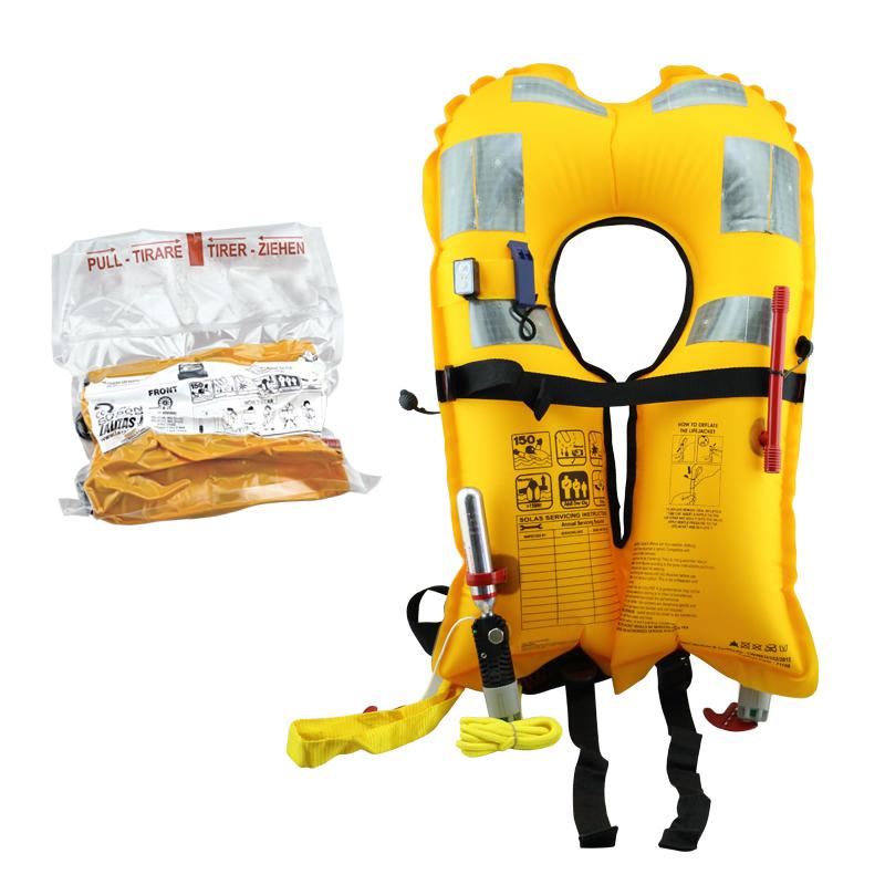 LALIZAS Inflatable Lifejacket, Vacuum Pack, Delta Auto 150N, SOLAS, with LALIZAS Lifejacket light_4481