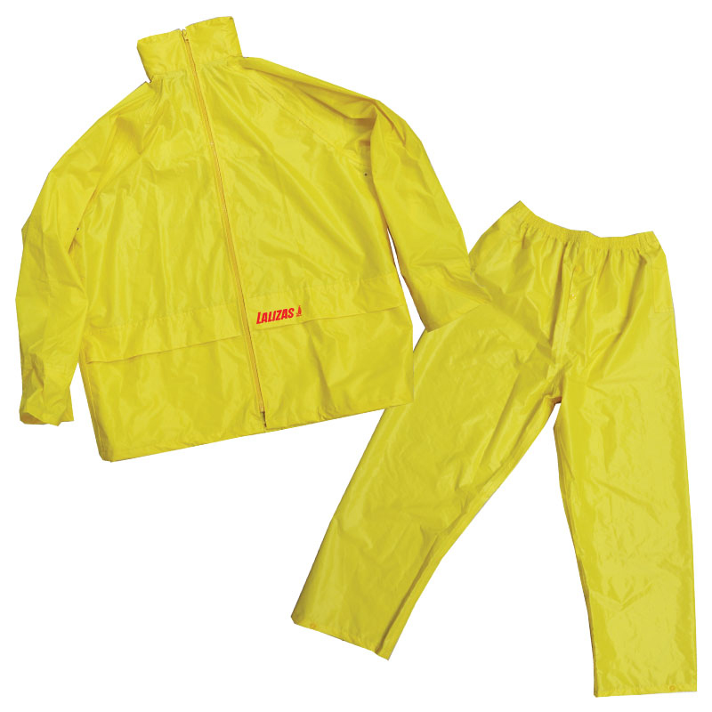 LALIZAS Rainsuit with Hood, yellow_4591