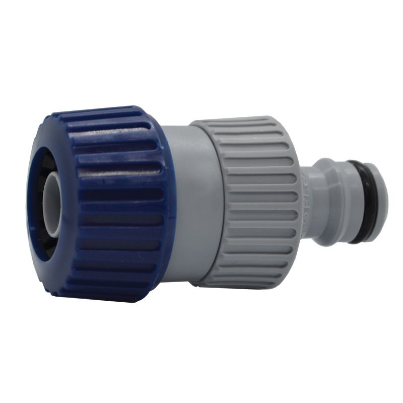 Male quick connector with hose grip_4622